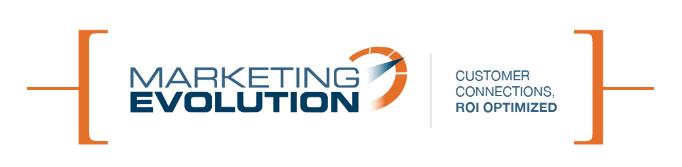 Marketing Evolution | Customer Connection, ROI Optimized